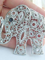 Women Accessories Silver-tone Clear Rhinestone Crystal Elephant Brooch Art Deco Crystal Brooch