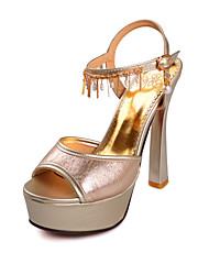 Women's Shoes Synthetic/Rubber Cone Heel Heels/Peep Toe/Gladiator/Open Toe SandalsWedding/Party &