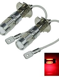 2X 5 COB SMD LED H3 Bulb Red Fog Light Parking Low High Beam Lamp 7.5W AC/DC 12-24V H062