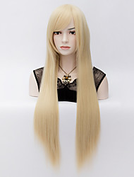 """80cm/31"""" inches Long Straight Blonde Costume Cosplay Hair Full Wig"""
