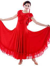 High-quality Tulle/Milk Fiber with Ruffles Performance Dresses for Ladies(More Colors)