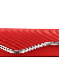 handcee® beliebteste Frau Satin Eleganz Design Strass Abendtasche
