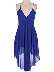 Women's Casual Micro-elastic Sleeveless Midi Dress (Chiffon/Satin)