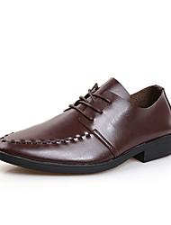 Oxfords ( Cuero , Negro/Marrón/Blanco Zapatos de hombre