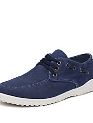 Men's Shoes Outdoor/Athletic Canvas Fashion Sneakers Blue/Brown/Gray