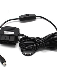 3.5Meter  micro USB Interface OBD Charger For Car Camera,Gps,E-dog