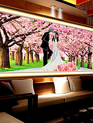 5D Diamond Draw New Romantic Cherry Bedroom Wall Picture Stitch Wedding Series Paste Diamond Embroidery