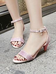 Women's Shoes Chunky Heel/Open Toe /Ankle Strap/Sandals Dress Gold/Pink/Silver