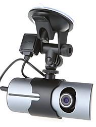 "R300 Dual Lens Front Rear Car Camera Car dvrs Vehicle Dash Dashboard GPS logger Data Recorder 2.7"""
