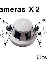 1080P Double Camera Smoke Detector Hidden Network Security IP Camera ONVIF Audio Camera(A shell 2PCS 1080P Cameras)