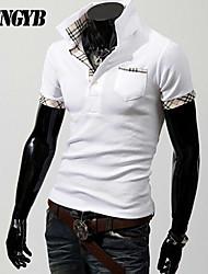 Herren Freizeit/Büro/Formal/Sport Polo  -  Druck Kurz Baumwolle/Baumwollmischung/Polyester