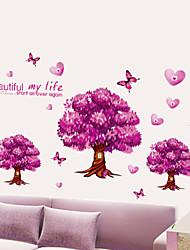 papillons arbres heureux stickers muraux