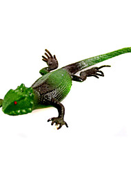 (5 PCS)Simulation Lizard Simulation Soft Rubber Animals Those Trick Toys (Random Color)