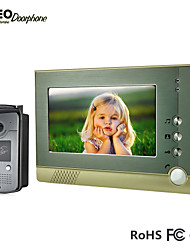 Hot selling ! 7 Inch TFT Color Wired Video Door Phone with ID Card Function Intercom Entry System