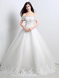 Princess Floor-length Wedding Dress -Strapless Tulle