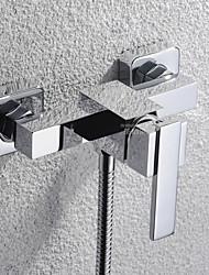 Shengbaier Single Handle Brass Wall Mount Bath Tub Faucet Mixer Tap