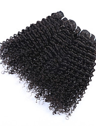 """3Pcs/Lot+10""""-30""""+Mongolian(Italian)Virgin Remy  Hair+ color(natural color)+ jerry curly"""