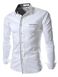 Informeel Shirt Kraag - MEN - Vrijetijds shirts ( Katoen/Katoenmengeling )met Lange Mouw