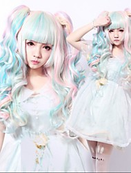Mix Wigs Fluffy Long Wavy Curly Lolita Wig Anime Wigs