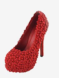 Mujer Zapatos de boda Tacones Tacones Boda/Vestido/Fiesta y Noche Rojo