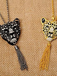 New Arrival Fashional European And American Popular Rhinestone Lion Necklace