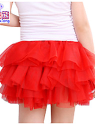 Waboats Winter Kids Girls Yarn Solid Mini Tutu Dress