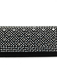 Handcee® New Fashion Woman Satin Rivet Clutch Party Bag