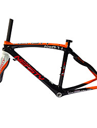 RB-NT28+FK-NG28 Neasty Brand 700C Full Carbon Fiber Frame and Fork 3K/12K  Weave Orange and White Neasty Logo 1-1/8""