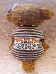 Hunde - Sommer - Baumwolle - Zebra - Braun - T-shirt - XS / S / M