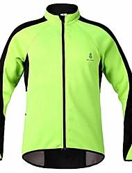 WOLFBIKE Men's Sport  Bicycle MTB Long Sleeve Cycling Tops Jacket Sweatshirt Fleece Warm Bike Windproof Back Pocket