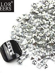 Silver Square alliage 300PCS 3D Nail Art d'or et d'argent Décorations