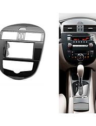 carro fascia rádio para o painel tablier Nissan Tiida unidade de cabeça de instalar kit guarnição cd montagem