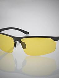 Gafas de Sol hombres's Ligeras Envuelva Negro / Plata Gafas de Sol / Protección / Conducción / Gafas de visión nocturna Media Montura
