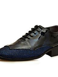 Oxfords ( Cuero , Negro/Azul/Rojo/Amarillo Zapatos de hombre