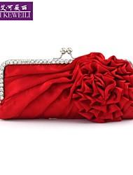 AIKEWEILI®Women's Bag Fashion Silk Flower Drape Clutch Bag Casual Korean Style Shoulder Bag Wedding Party Bag Purse