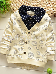 Boy's Fashion Leisure  Smile Cotton Shirt