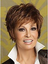 cortos pelucas sintéticas onduladas naturales para las mujeres