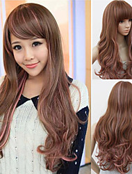 Beautiful Face And Long Curly Hair Streaked Repair Of High-Quality Wigs