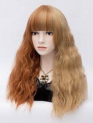 Mix Color Harajuku Cosplay Wigs Heat Resistant Curly Hair Synthetic Wig