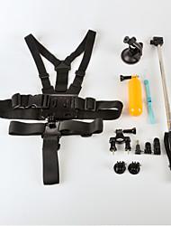 6 en 1 oudoor accessoires de sport costume pour GoPro Hero 4/3 + / 3/2/1 / sj4000 / sj5000 / sj6000