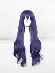 Perucas de Cosplay Amar viver Fantasias Púrpura Médio Anime Perucas de Cosplay 60 CM Fibra Resistente ao Calor Masculino / Feminino