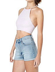 Women's Sexy Summer Beach Holiday Casual Backless Vest Tank Top