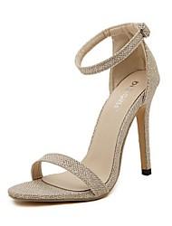 Women's Shoes Stiletto Heel Heels/Open Toe Sandals Casual Black/Silver/Gold