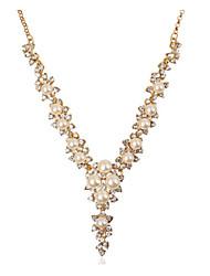 Masoo Women's Fashion Hot Selling Popular Rhinestone Pearl Necklace