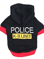 "Stylish ""POLICE"" Pattern  T-Shirt with Hoodie for Pets Dogs (Assorted Sizes)"