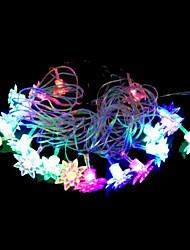 2w 4 metro di diametro esterno 20pcs lampadina led stringa modellazione illuminazione luci loto trasparenti, colore rgb