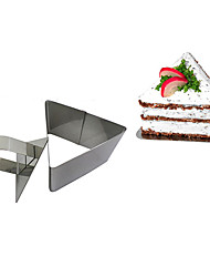 Ferramenta 3''mousse conjunto de triângulo anel mousse com bolo de empurrar queijo molde de aço inoxidável