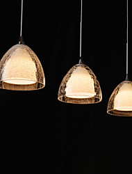 Glass Modern Bar Pending Single& Triple Lamp with LED Light Source.
