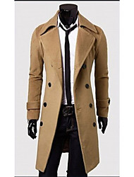 wans Men's Casual Long Sleeve Coats & Jackets