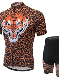 WEST BIKING® Men's Mountain Bike Clothing Suit Breathable Tiger Pattern Wicking Cycling Clothing Short Suit